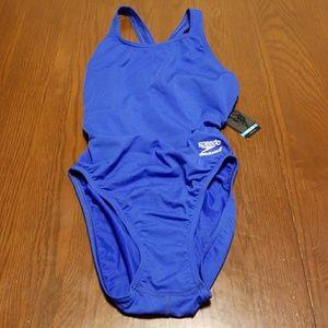 Speedo Endurance+ race suit blue NWT 30 B116:8:118